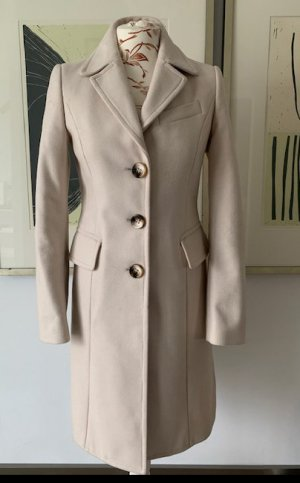 Benetton Manteau en laine beige clair laine