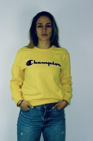 Champion Pull ras du cou jaune-jaune primevère