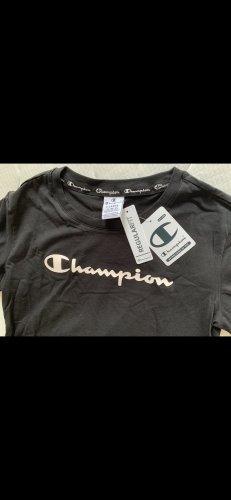 CHAMPION Damen T-Shirt XL 42 schwarz NEU