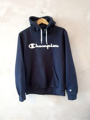 Champion Sudadera con capucha negro-azul oscuro