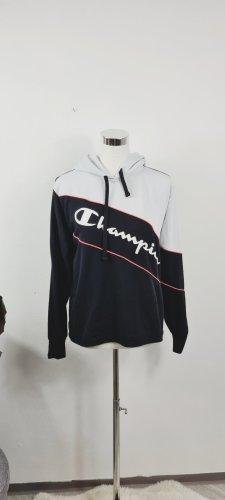 Champion Sweatshirt met capuchon wit-zwart