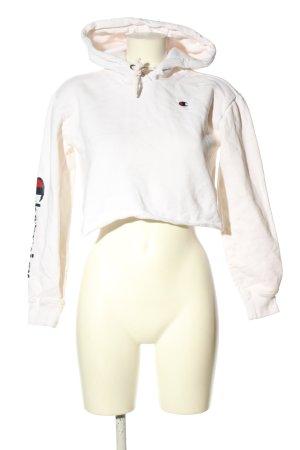 Champion Bluza z kapturem biały Wydrukowane logo W stylu casual