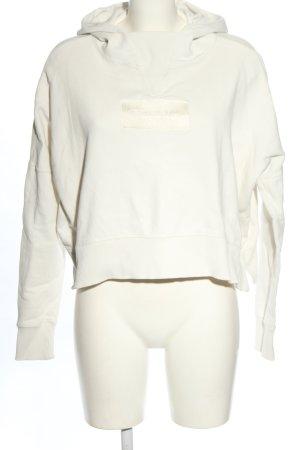 Champion Felpa con cappuccio bianco stile casual