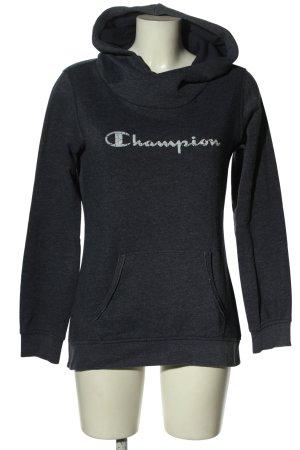 Champion Sweatshirt met capuchon blauw gedrukte letters casual uitstraling