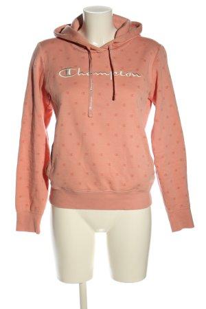 Champion Bluza z kapturem różowy-biały Wyhaftowany logo W stylu casual