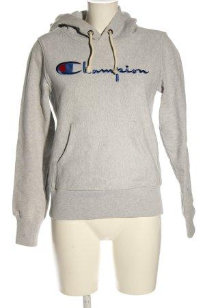 Champion Hooded Sweatshirt light grey flecked casual look