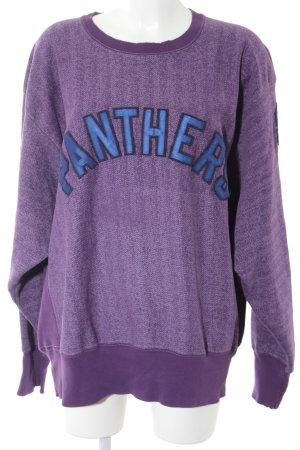 Champion Oversized Pullover lila-blau Boyfriend-Look
