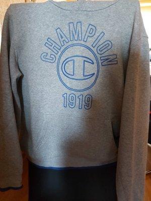 Champion Pull à capuche gris clair-bleu acier