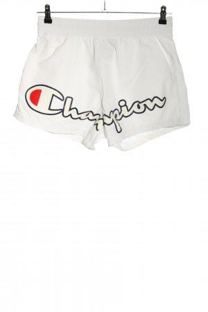 Champion Shorts white printed lettering casual look