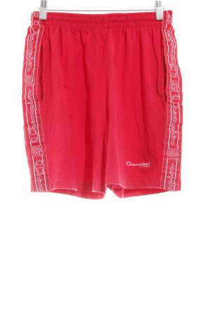 Champion Shorts rot-weiß Casual-Look