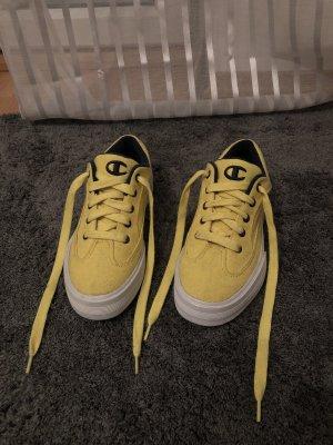 Champion Sneakers met veters geel-donkerblauw