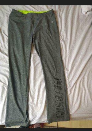 Champion Pantalone da ginnastica grigio-verde neon