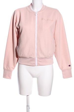Champion Sportjacke pink Schriftzug gestickt Casual-Look