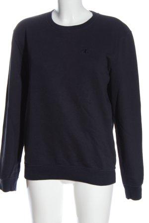 Champion Sweatshirt blau Schriftzug gestickt Casual-Look