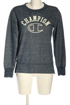 Champion Sweatshirt hellgrau Allover-Druck Casual-Look