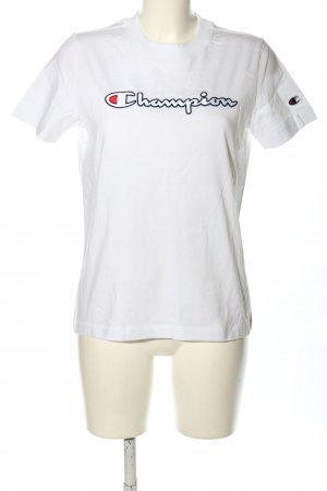 Champion T-Shirt white printed lettering casual look