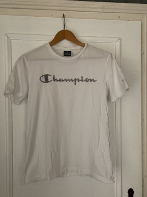 Champion T-shirt biały-czarny