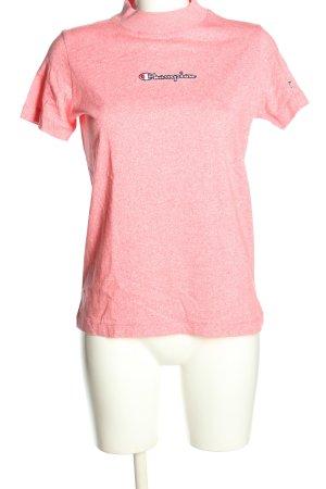 Champion T-shirt różowy Melanżowy W stylu casual