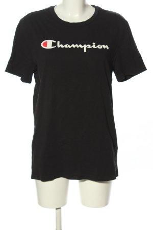 Champion T-shirt lettrage imprimé style décontracté