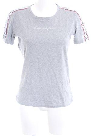 Champion T-Shirt hellgrau meliert Casual-Look