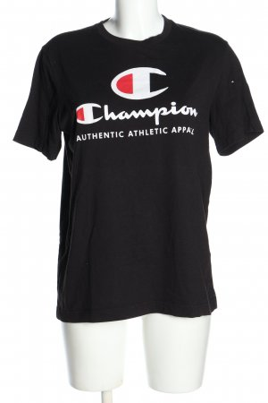 Champion T-Shirt black-white themed print casual look