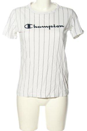 Champion T-Shirt weiß Schriftzug gedruckt Casual-Look