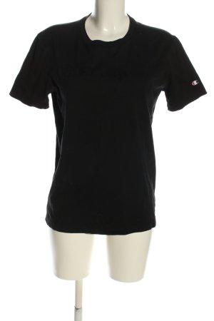 Champion T-shirt czarny W stylu casual