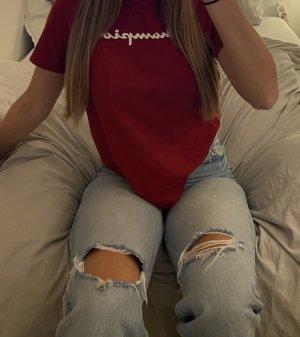 Champion T-shirt czerwony-ciemnoczerwony