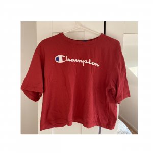 Champion Tshirt Cropped Loose fit Weiß Rot