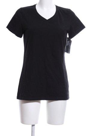 Champion V-Ausschnitt-Shirt schwarz Casual-Look