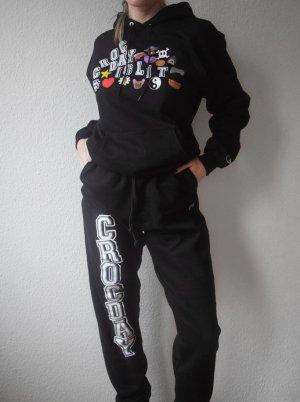 Champion Pantalon de jogging noir-blanc coton