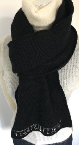 Chanel Écharpe en cachemire noir cachemire