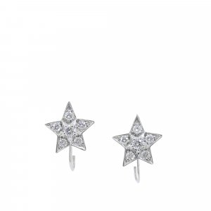 Chanel Earring silver-colored real gold