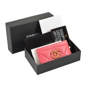 Chanel Custodie portacarte rosa-oro Pelle