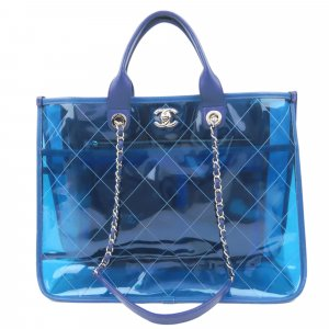 Chanel 2018 Quilted PVC Medium Coco Splash Shopping Tote