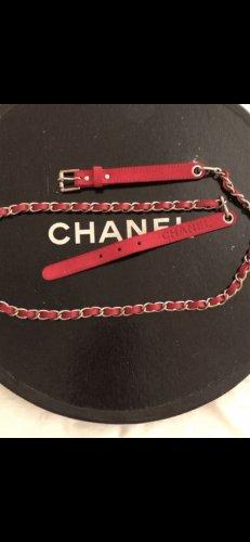 Chanel Ceinture en chaîne rouge