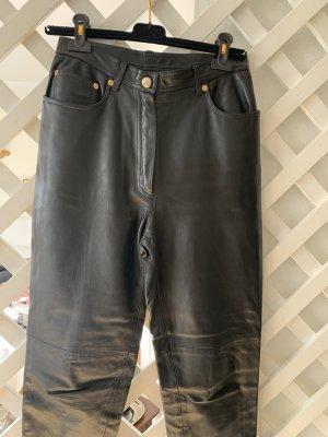 Chanel Pantalon en cuir noir
