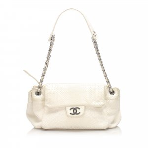 Chanel Accordion CC Cotton Shoulder Bag