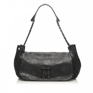 Chanel Accordion Leather Flap Bag