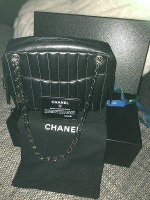 Chanel Handtas zwart-zilver