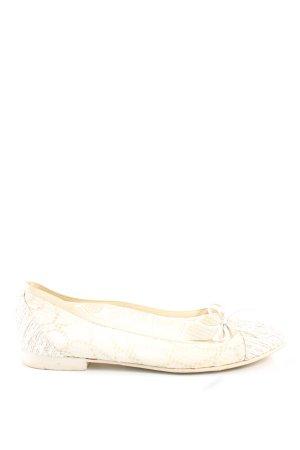 Chanel Ballerinas mit Spitze wollweiß-creme Allover-Druck Casual-Look