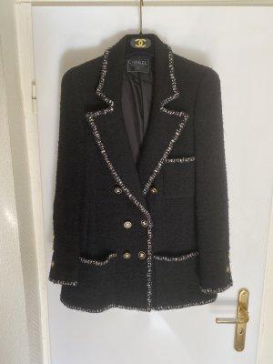 Chanel Blazer en tweed noir