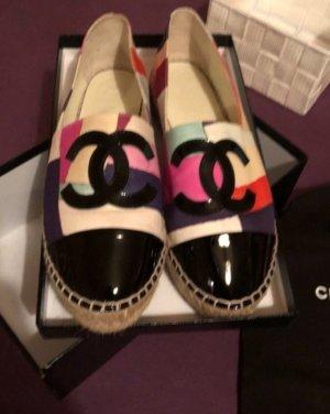 Chanel Blogger Sandalen Schuhe slipper flats espadrilles mit Rechnung