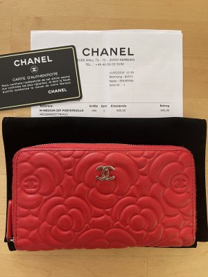 Chanel Portefeuille rouge cuir