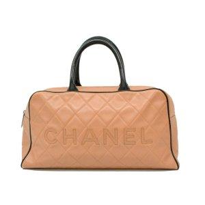 Chanel Luggage beige leather