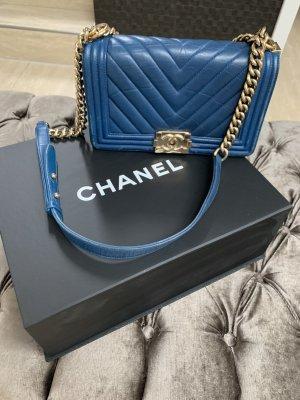 Chanel Bolso azul Cuero
