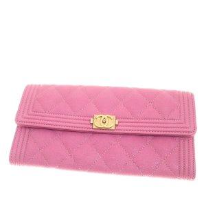 Chanel Boy Caviar Leather Wallet