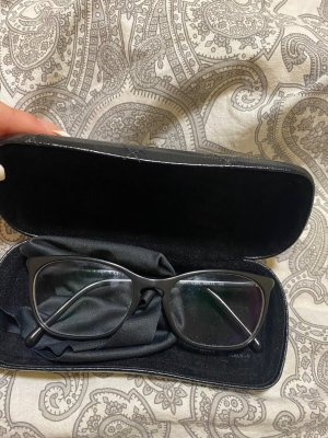 Chanel Gafas negro-color oro