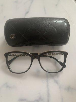 Chanel Glasses black-silver-colored