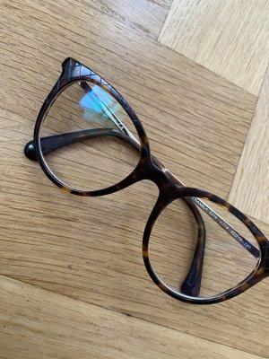 Chanel Okulary czarno-brązowy